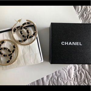Vintage Chanel Hoop Earrings